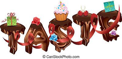 Chocolate word -- taste