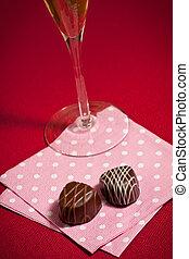 Chocolates and champagne