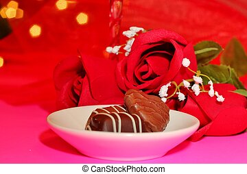 Chocolates and roses 12