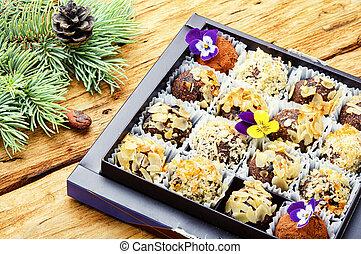 Chocolates candy for Christmas