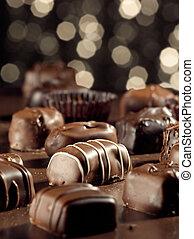 chocolates., geassorteerd