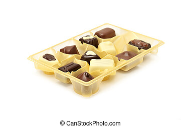 Chocolates in a box