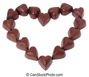 chocolates in a heart shape