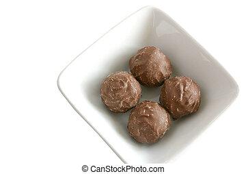 chocolates in dish