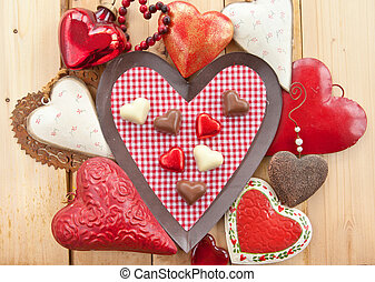Chocolates in heart-shape
