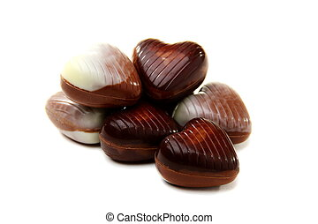 Chocolates in the shape of a heart.