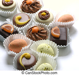 Chocolates - Mixed chocolates in paper trays