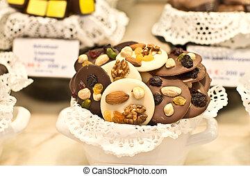 chocolates, nueces, belga
