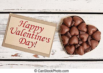 Chocolates on Valentine's Day.