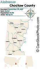 Choctaw county in Alabama