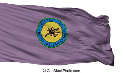 Choctaw Indian Flag Isolated Seamless Loop - Choctaw Indian...