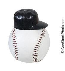 chodząc, baseball, czarny kapelusz