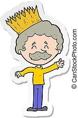 chodząc, osoba, rzeźnik, korona, rysunek