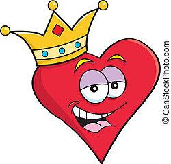 chodząc, serce, korona