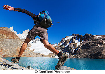 chodzić na piesze wycieczki, patagonia