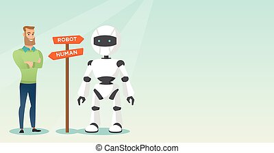 Choice between artificial intelligence and human. - Young...