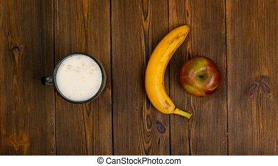 choice between healthy and harmful food or drink, beer or...