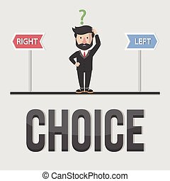 Choice business concept