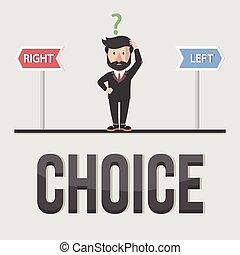 Choice business concept