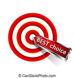 choice., conceito, melhor, negócio, ícone