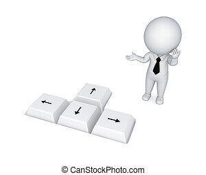 Choice concept. Isolated on white background.3d rendered.