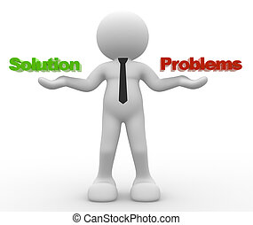 Choice - 3d people - man, person and worlds SOLUTION or...