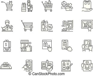 Choice line icons, signs, vector set, outline illustration concept