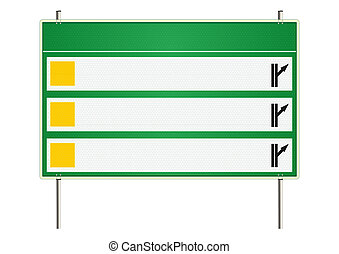 Choice. Traffic sign on a white background. Raster