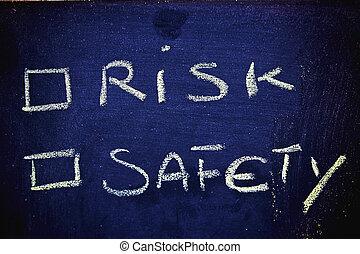 choices:, kockáztat, vs., biztonság