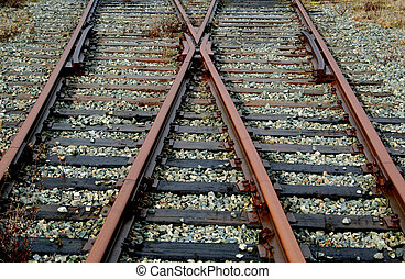 Choices - Railway tracks lead off in two different...