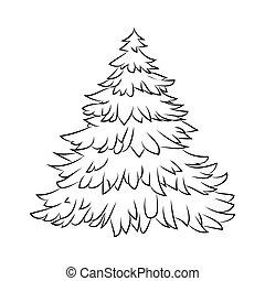 Boże Narodzenie Zima Karta Odizolowany Ilustracja Symbol