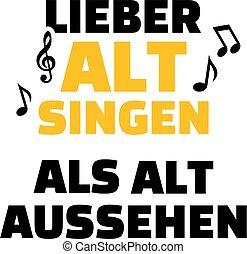 Choir alto voice german - Choir alto slogan music german