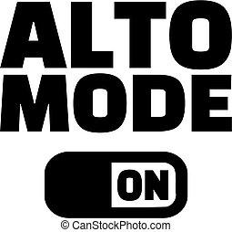Choir music alto mode on icon - Choir alto mode on icon