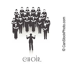 Choir Peroforrmance Black Image - Classic choir performance...