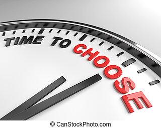 choisir, temps