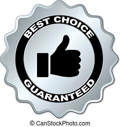 choix, vecteur, guaranteed, mieux, étiquette