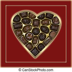 choklad kandera, och, bakgrund