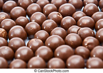 choklad, klumpa ihop sig