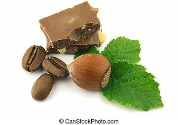 choklad, och, hasselnöt