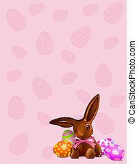 choklad påsk kanin, bakgrund