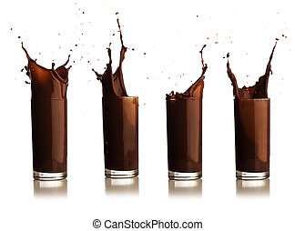 choklad, plaska