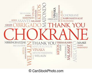 chokrane, mot, (thank, vous, arabic), nuage