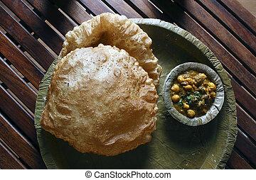 Chola Batura from North India - Chola Bhatura (also Choley...
