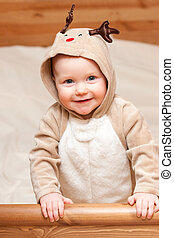 chold, hirsch, kostüm, weihnachten
