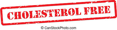 Cholesterol Free Rubber Stamp - Cholesterol free red rubber...