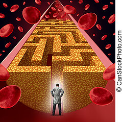 Cholesterol Treatment - Cholesterol treatment by a heart...