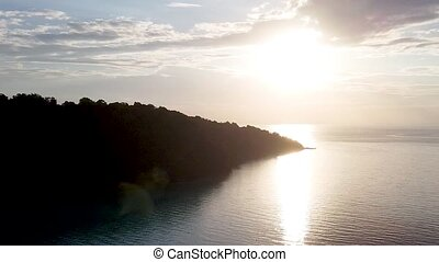 Chong Khat Bay panoramic aerial view, Surin Islands National Park, Thailand