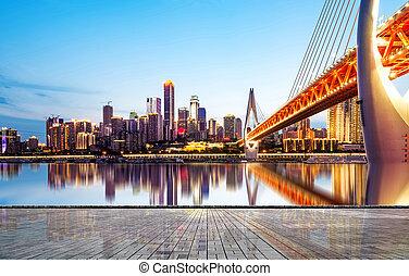 chongqing, állati tüdő, város, kína