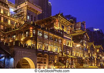 chongqing, 在, hongyadong