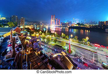 chongqing, kína, állati tüdő, város